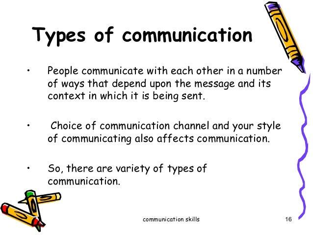 communication skill types