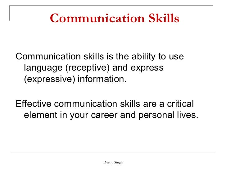 Communication Skills Notes Pdf
