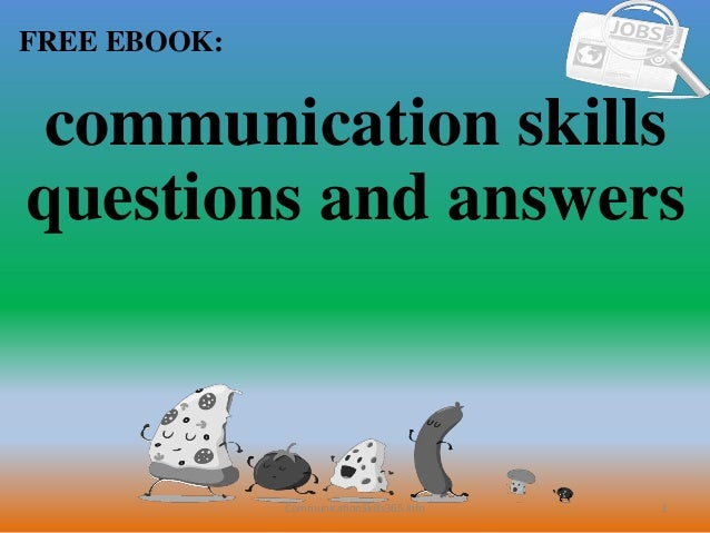 Communication skills questions and answers pdf free download