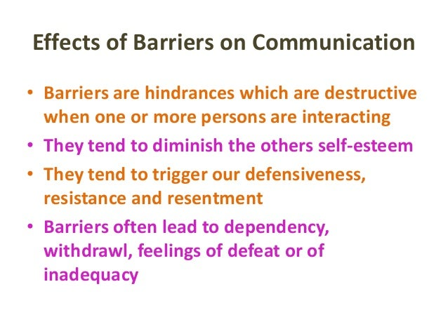 barriers to communication selective perception Differentiate between filtering, selective perception, and information overload differentiate between emotional disconnects, lack of source credibility, and semantics  fortunately, with some awareness and advance planning, physical barriers to effective communication are some of the easiest to overcome.