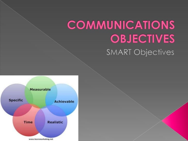 Communications objectives ppt