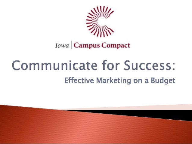 Effective Marketing on a Budget