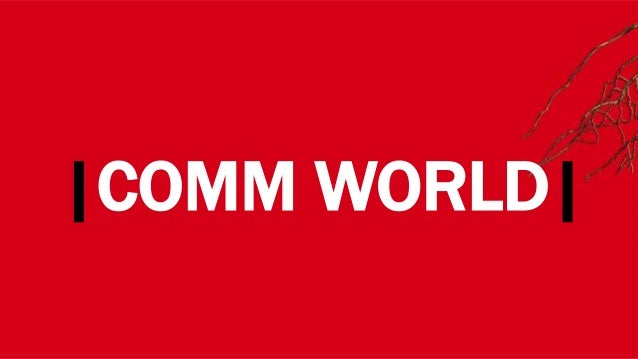 WHERE?|COMM WORLD|