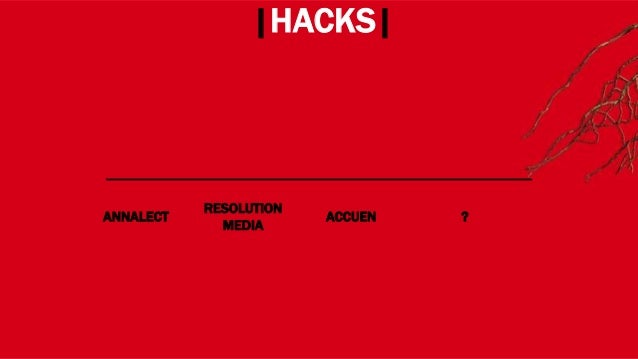 WHERE? |HACKS| ANNALECT RESOLUTION MEDIA ACCUEN HEARTS&SCIENCE UNLIMITED