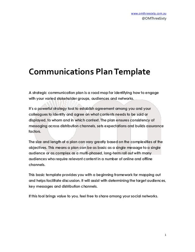 Communication Plan Template Free Aprilonthemarchco - How to write a will template free