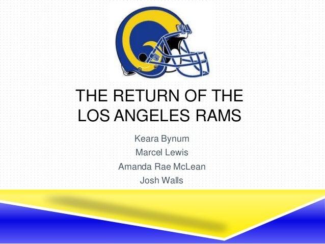 THE RETURN OF THELOS ANGELES RAMSKeara BynumMarcel LewisAmanda Rae McLeanJosh Walls