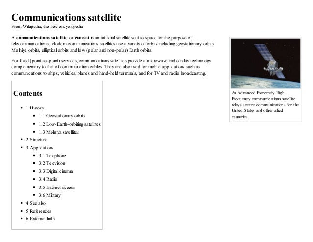 An Advanced Extremely High Frequency communications satellite relays secure communications for the United States and other...