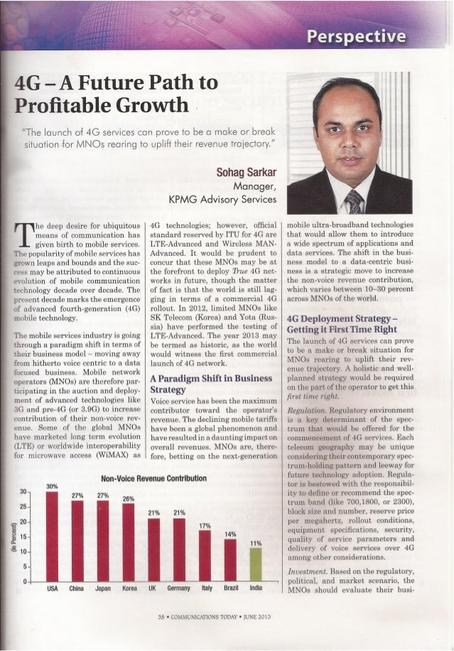 4G: Future Path to Profitable Growth by Sohag Sarkar