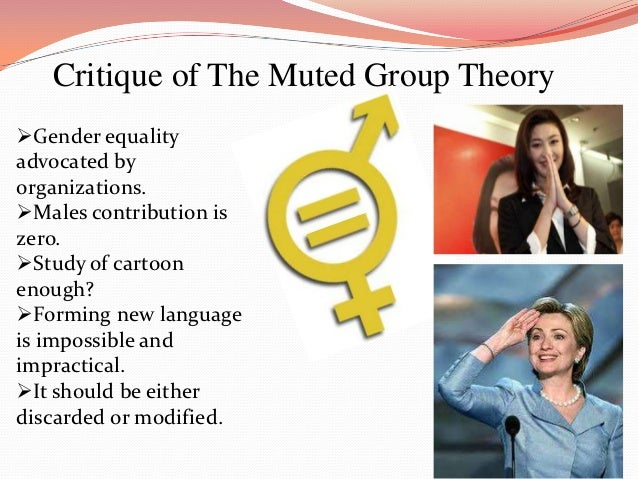 "muted group theory and the little This paper will examine the applicability of muted group theory to the sport of   the male domination of the women's event, saying ""we have a small group of."