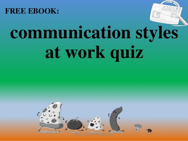 Communication styles at work quiz pdf free download