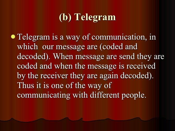 Communication - \