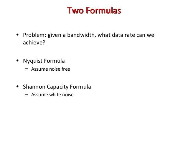 how to find bandwidth formula