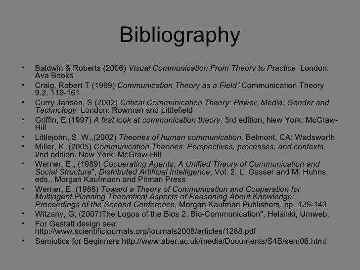 Communication theory redraft