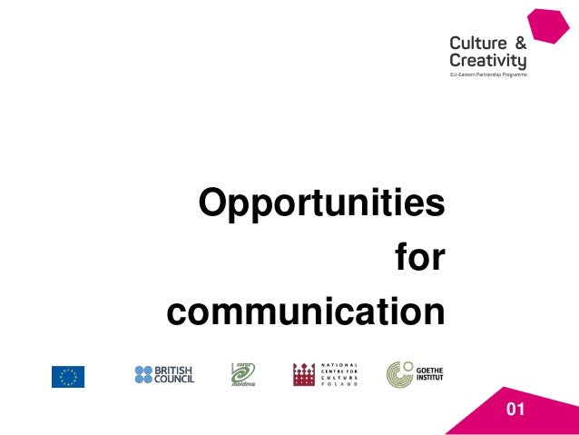 01 Opportunities for communication