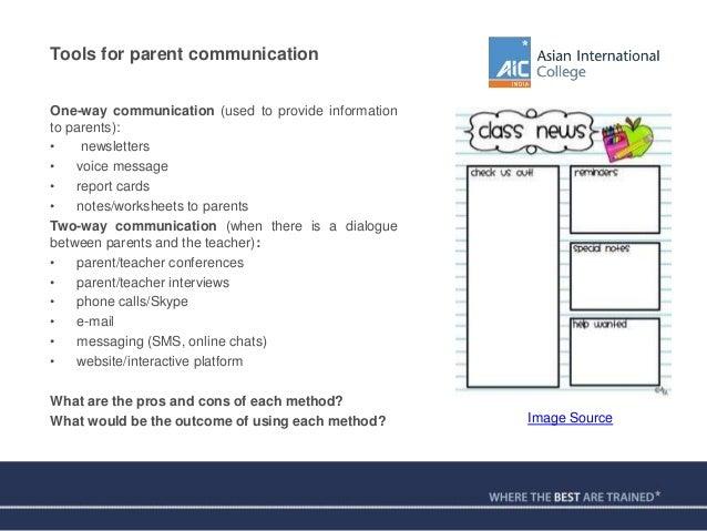 The Art of ParentTeacher Communication – Parenting Skills Worksheets