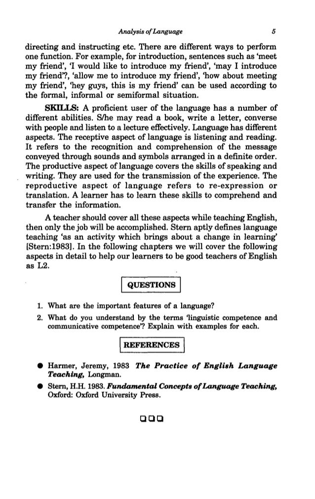 Communicative Approach To The Teaching Of English As A Second Languag Clqq