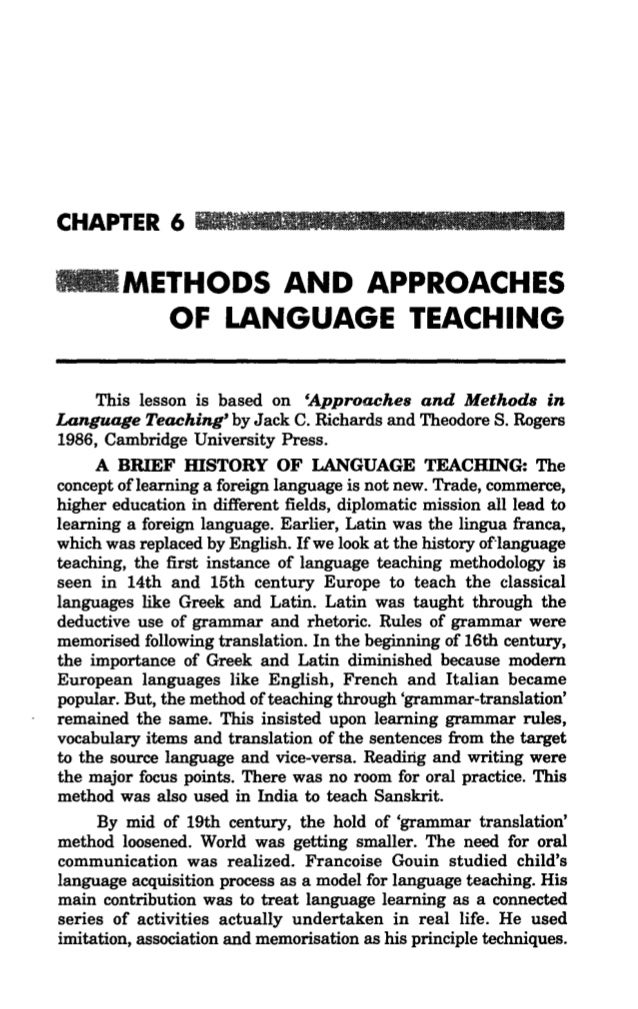 communicative approach in english teaching Communicative language teaching clt english language essay  what made this approach to get out of the system was a new approach called communicative language.