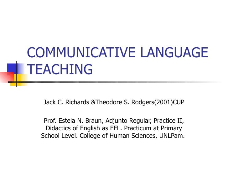 adapting communicative language teaching approach to Communicative language teaching can be understood as a set of prin- ciples about the goals of language teaching, how learners learn a language, the kinds of classroom activities that best facilitate learning, and the roles of teach-.