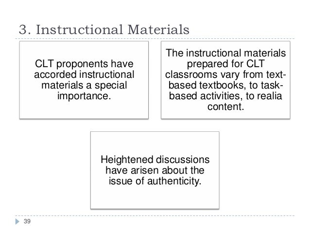 Importance Of Using Instructional Materials In Teaching