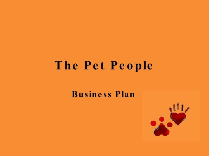 The Pet People Business Plan
