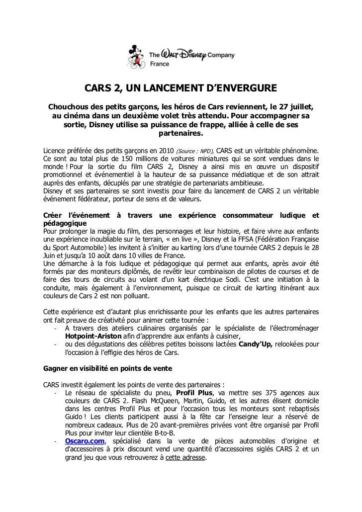 CARS 2, UN LANCEMENT D'ENVERGURE<br />Chouchous des petits garçons, les héros de Cars reviennent, le 27 juillet, au cinéma...