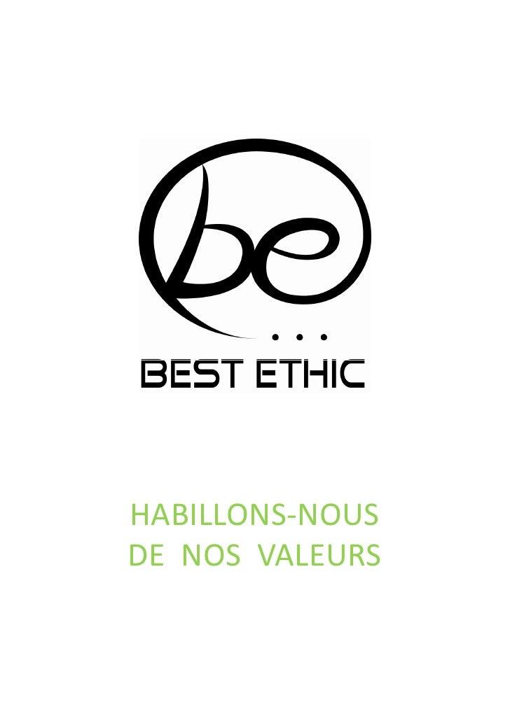 HABILLONS-NOUS DE NOS VALEURS