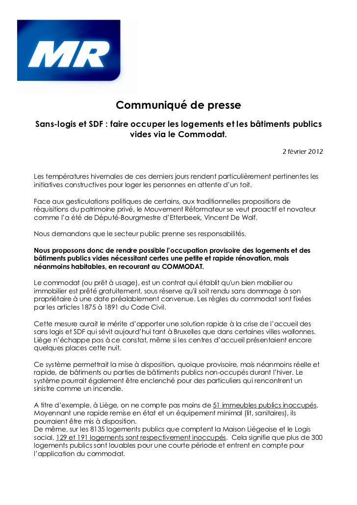 contrat commodat