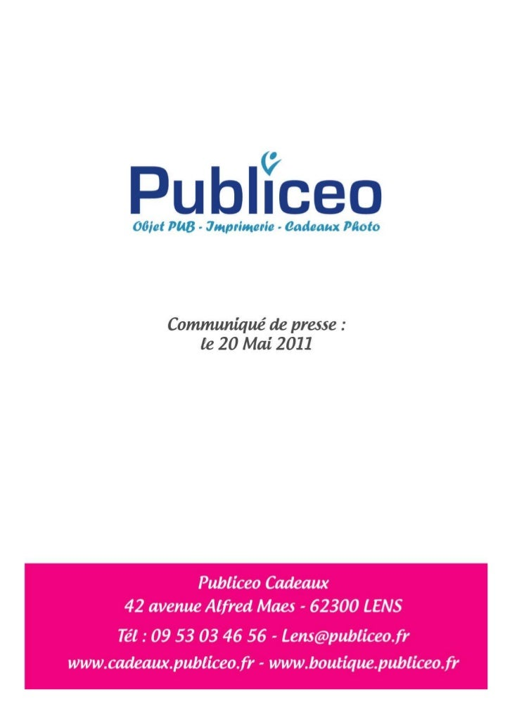 Communiqué de presse PUBLICEO mai 2011