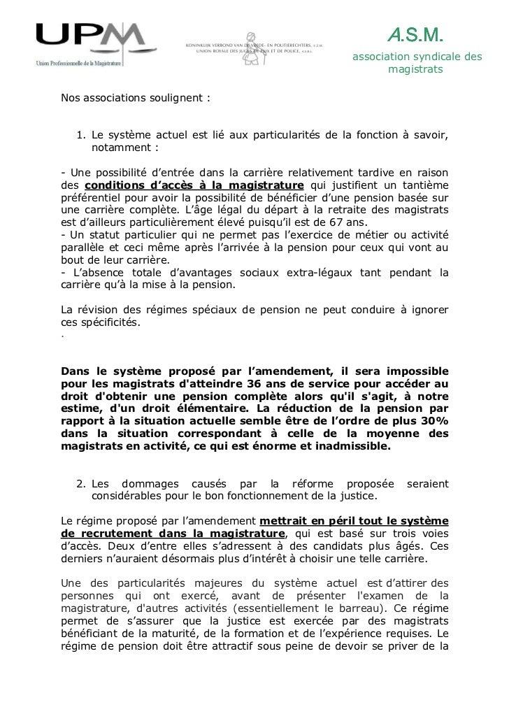 Communiqué de presse  réforme du régime des pensions des magistrats Slide 2