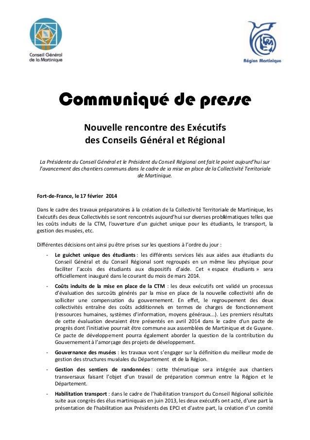 Communiq é de pre qué esse Nouvellerenc contredesEx xécutifs s desCo onseilsGénéra aletRé égional l LaPrés siden...