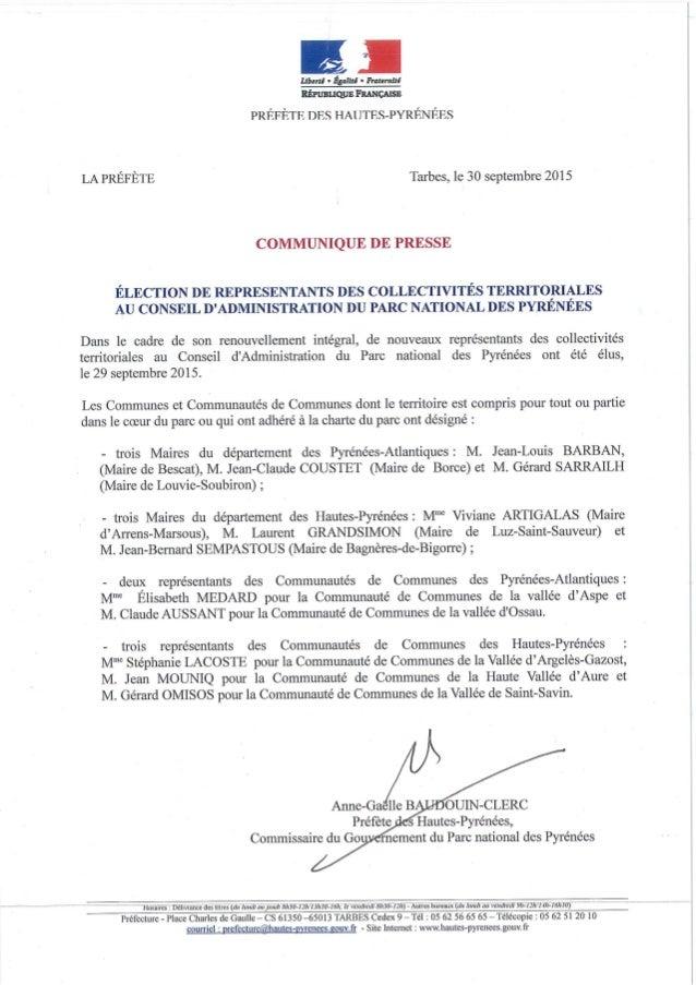Lections conseil d 39 administration du parc national des - Conseil national des parcs et jardins ...