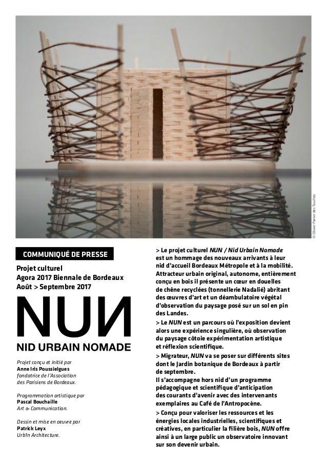 Projet conçu et initié par Anne Iris Poussielgues fondatrice de l'Association des Parisiens de Bordeaux. Programmation art...