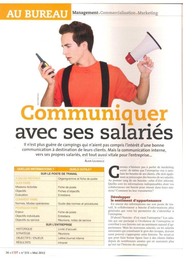 Communiquer avec ses salariés