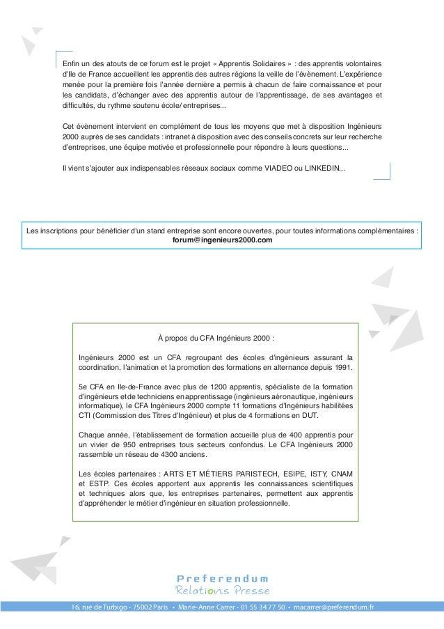 communiqu u00e9 de presse forum 2017 ing u00e9nieurs 2000