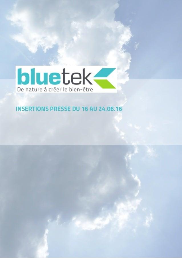 INSERTIONS PRESSE DU 16 AU 24.06.16