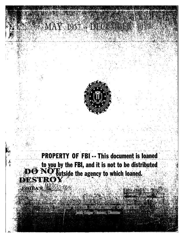 Communist party line   fbi file series in 25 parts - vol. (8)
