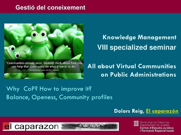Knowledge Management                               VIII specialized seminar                             All about Virtual ...