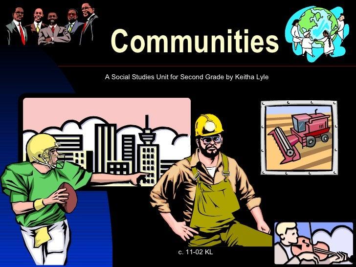 Communities A Social Studies Unit for Second Grade by Keitha Lyle