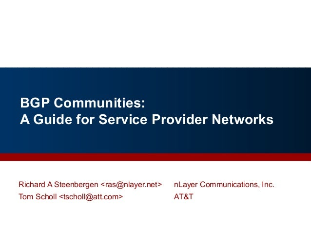 BGP Communities: A Guide for Service Provider Networks