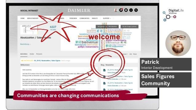 Communities are changing communications Sales Figures Community Patrick Interior Development