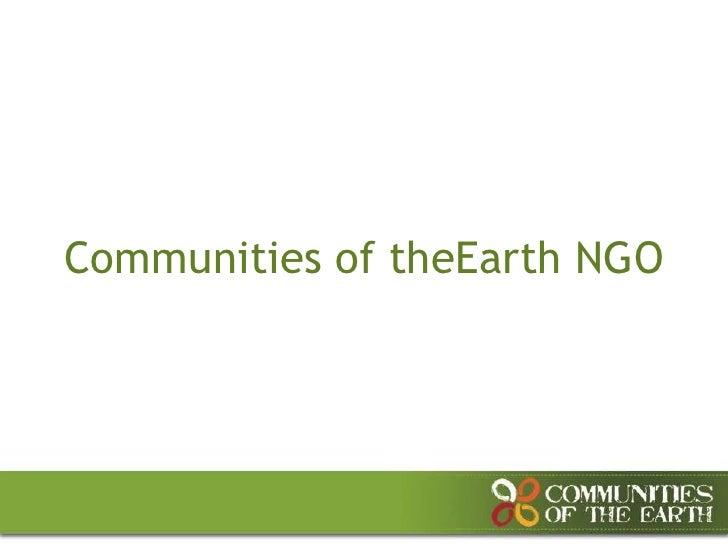 Communities of theEarth NGO