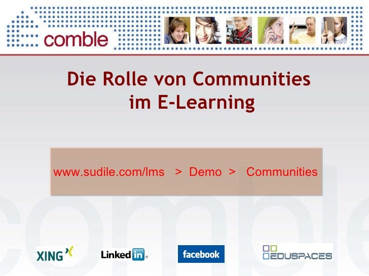 Die Rolle von Communities  im E-Learning www.sudile.com/lms  >  Demo  >  Communities