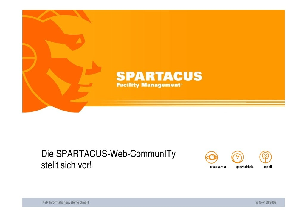 Die SPARTACUS-Web-CommunITy stellt sich vor!   N+P Informationssysteme GmbH   © N+P 09/2009