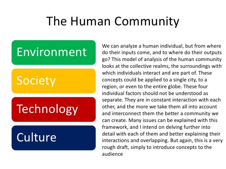 We can analyze a human individual, but from where do their inputs come, and to where do their outputs go? This model of an...