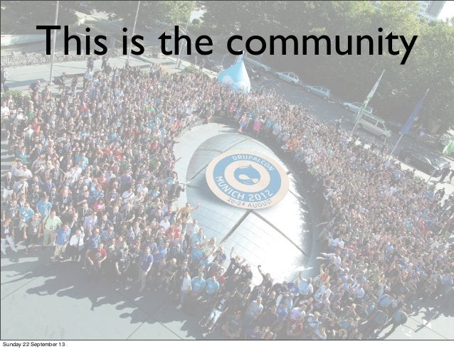 This is the community Sunday 22 September 13