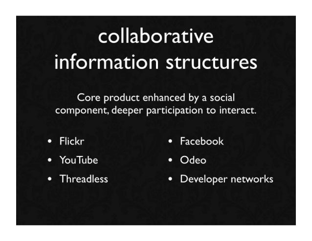... collaborative information structures Core product enhanced by a social  component 1993b3bbabc7
