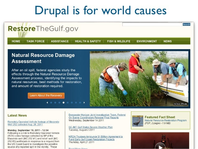 Drupal is for world causes