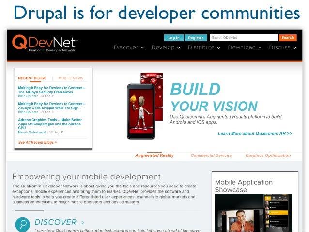 Drupal is for developer communities