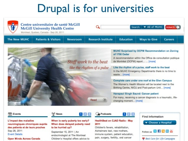 Drupal is for universities
