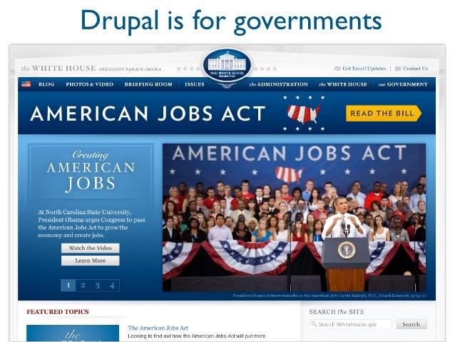 Drupal2% of web1,000 contributors to Drupal 7 core10,000+ modules25,000+ contributors1M+ registered users on drupal.org5M ...
